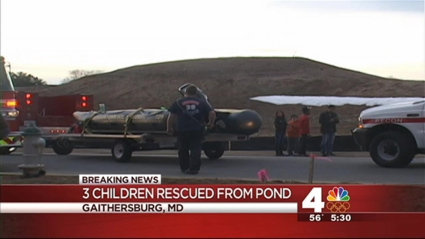 [DC] Three Children Rescued From Md. Pond