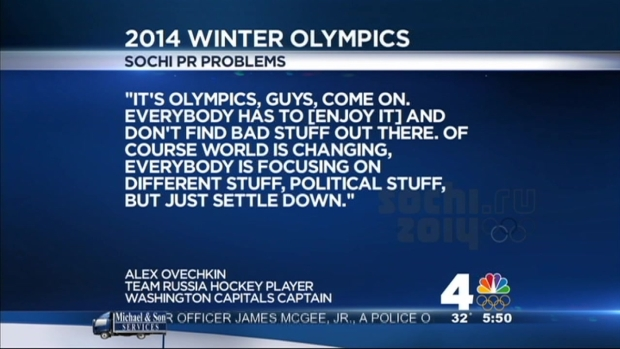 [DC] Ovechkin Addresses Criticism of Conditions in Sochi