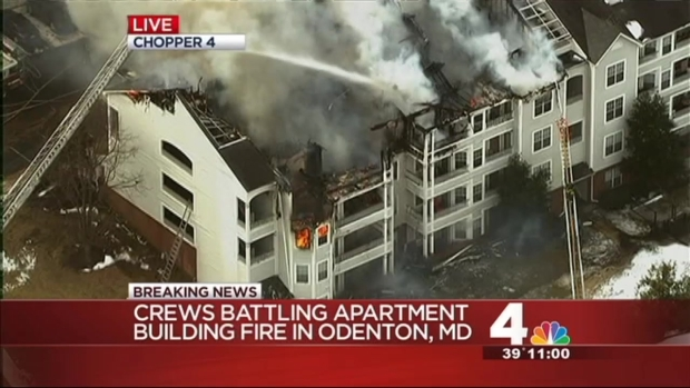 [DC] Crews Battle Massive Apartment Fire in Odenton, Md.