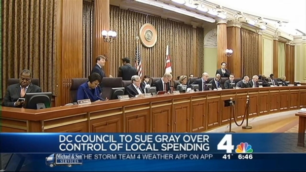 [DC] Council Suing Gray Over Budget Control