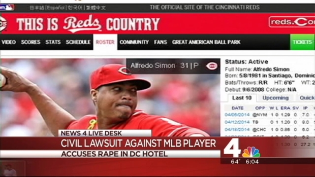 [DC] Reds Pitcher Accused of Rape in D.C.