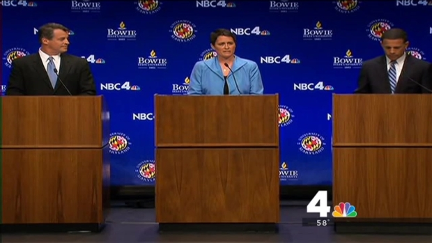 [DC] Brown, Gansler Clash in Debate; Mizeur Outlines Own Plans