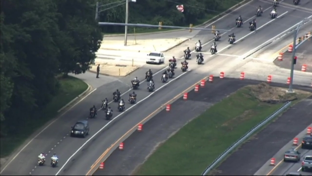 [DC] Motorcyclists, Police Escort Fallen Marine Back to Virginia