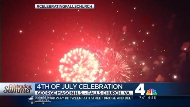 [DC] Falls Church Celebrates the 4th With Big Fireworks Show