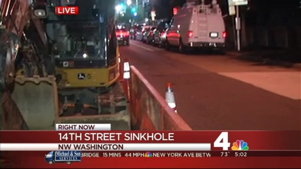 [DC] Sinkhole Closes 2 Lanes of Northbound 14th St. NW