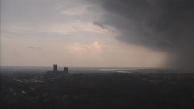 [DC] Time Lapse: Storms Moving in to D.C.