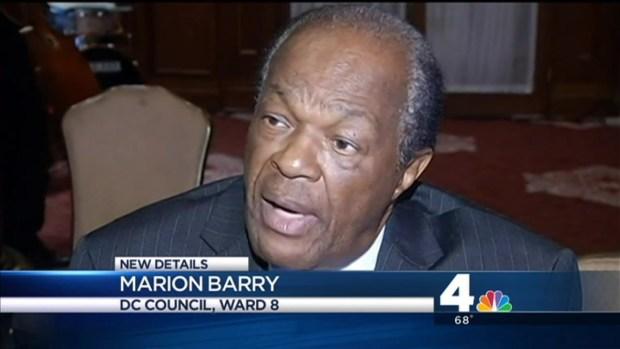 [DC] Marion Barry Addresses Wrong-Way Crash