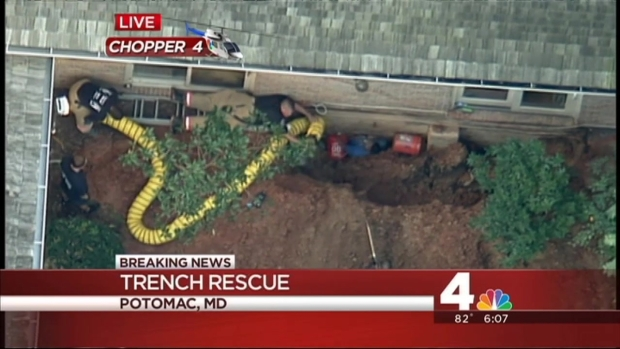 [DC] Technical Rescue Underway for Men Stuck in Trench