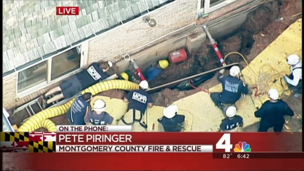 [DC] Crews Working Technical Rescue to Pull Workers From Trench