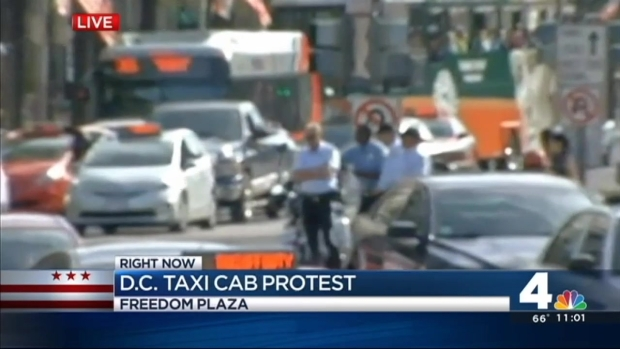 [DC] Taxi Drivers Slow Traffic to Protest Uber Vote