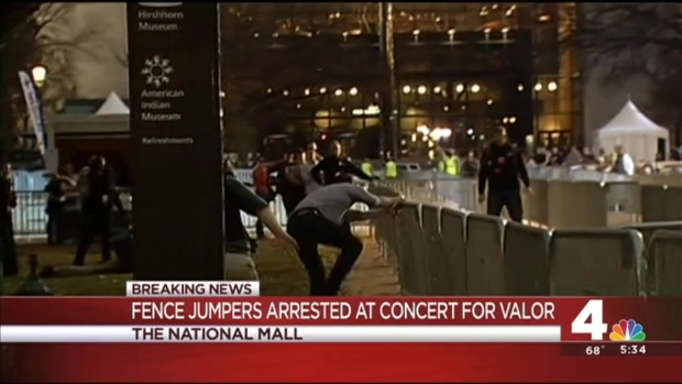 [DC] Fence-Jumper at Concert for Valor