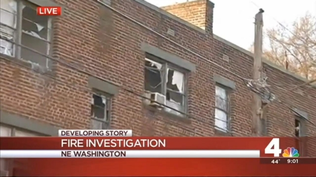 [DC] Residents Flee NE DC Apartment Fire