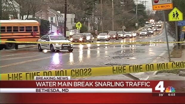 [DC] Broken Water Main Closes Massachusetts Avenue