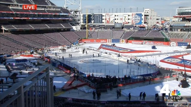 [DC] Caps to Practice on Ice at Nats Park