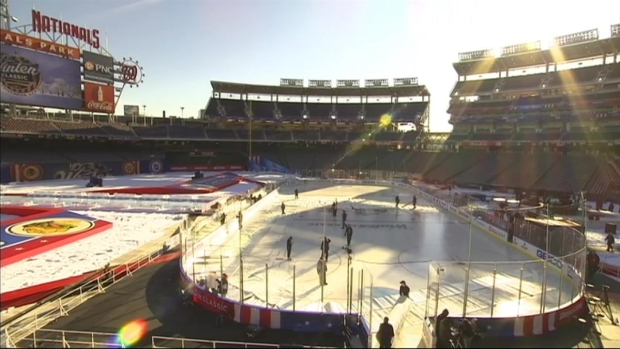Raw Video: Intense Sun Glare at Nats Park Ahead of Winter Classic