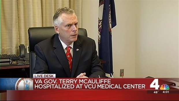[DC] Va. Gov. McAuliffe Hospitalized