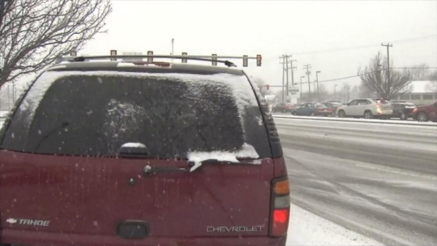 Out of Control SUV Stops Inches From News Camera in Hampton