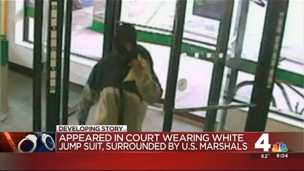 """""""Bicycle Bandit"""" Suspect Surrounded by Marshals in Court"""