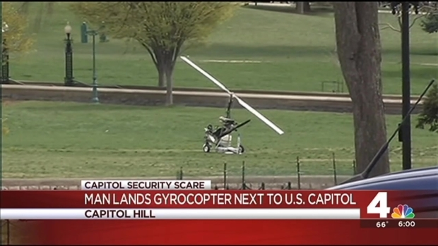 Pilot Lands Gyrocopter on U.S. Capitol Grounds