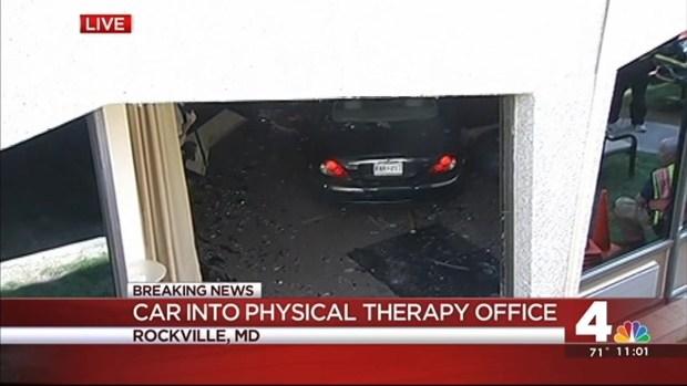 [DC] Car Drives Through Parking Garage, Crashes Into Office