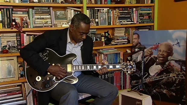 [DC] Derrick Ward Jams on One of B.B. King's Guitars