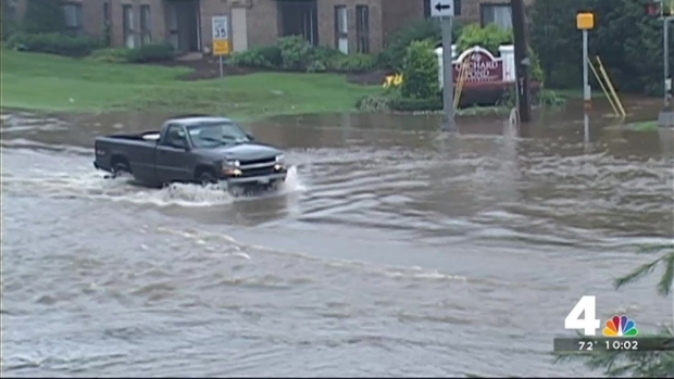 [DC] Flooded Roads Remain After Storm