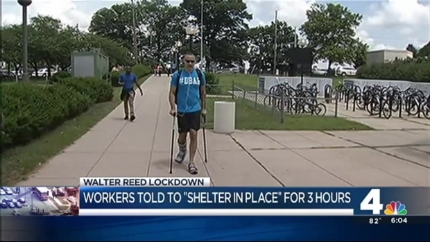 """Walter Reed Told to """"Shelter in Place"""" for Three Hours"""