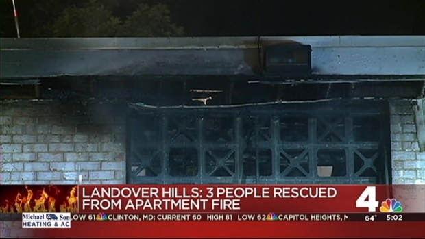 [DC] 3 Rescued From Burning Apartment in Landover Hills