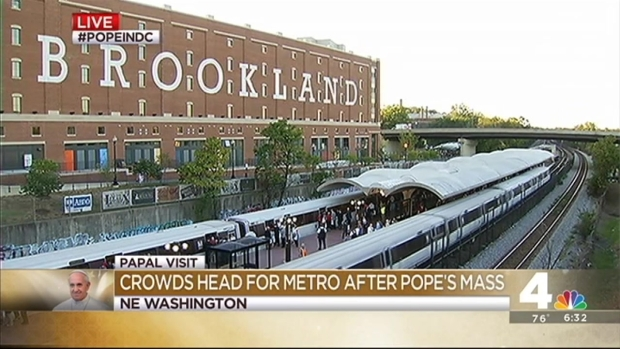 [DC] Brookland Metro Goes Entrance-Only After Papal Mass