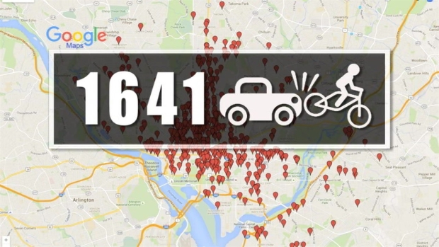 Mapping Bike Crashes in D.C.