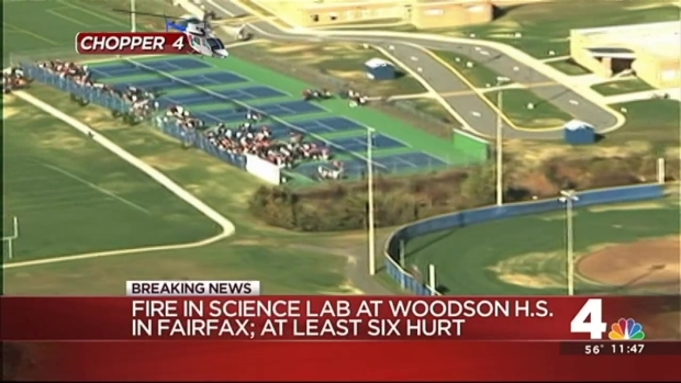 Two Airlifted After Fire at W.T. Woodson High School in Fairfax County