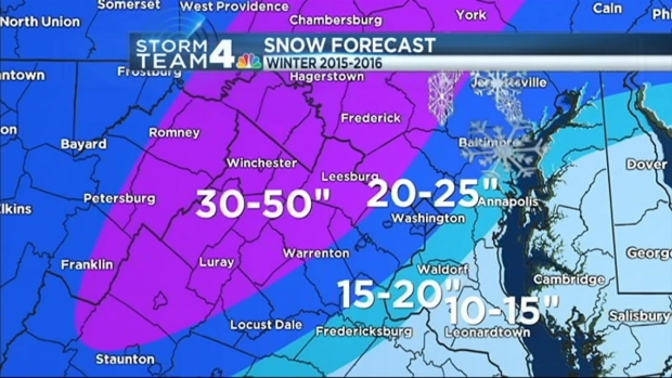 Winter Weather Forecast At Least One Major Storm Nbc4 Washington