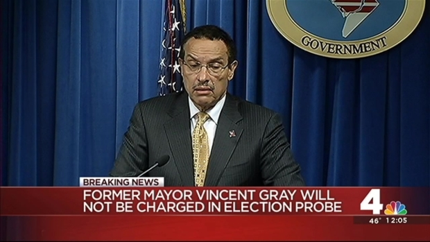 [DC] Ex-D.C. Mayor Will Not Face Federal Charges