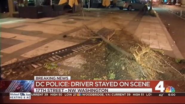[DC] 4 on Sidewalk Hit When Car Jumps Curb