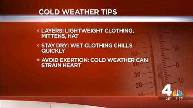 Tips to Stay Safe, Warm in Cold Weather