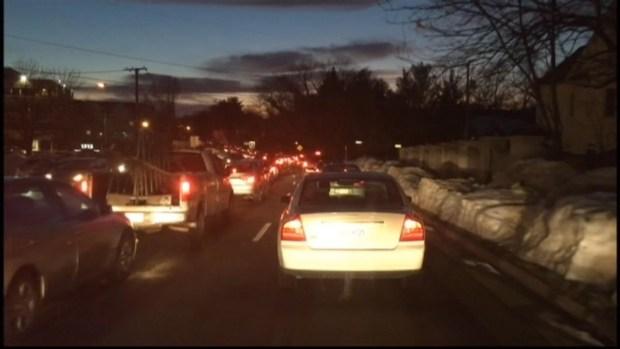 Drivers Stuck in Metro Parking Garage Traffic in Virginia