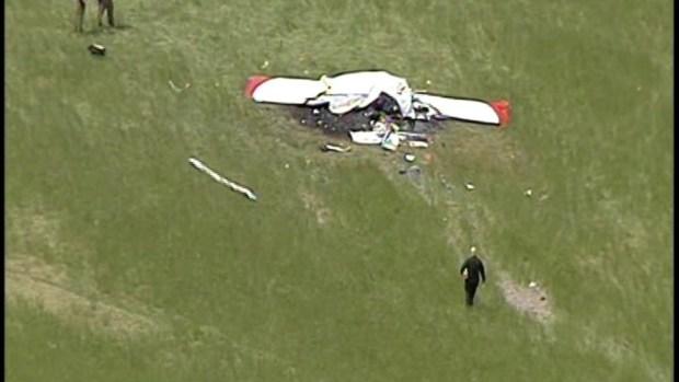 RAW: Video of Maryland Plane Crash Aftermath