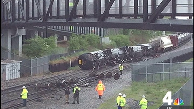 CSX: Train Derails in DC, Leaks 3 Different Chemicals | NBC4