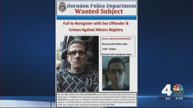 [DC] Herndon Police Search for Sex Offender Seen in Town Library