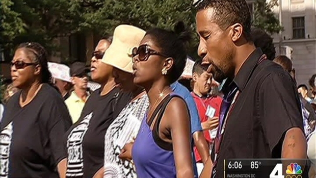 [DC] Demonstrators Rally For Peace and Justice at Freedom Plaza