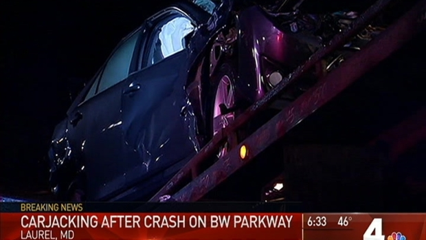 [DC] Driver Crashes Into 7 Vehicles, Steals Car on BW Parkway
