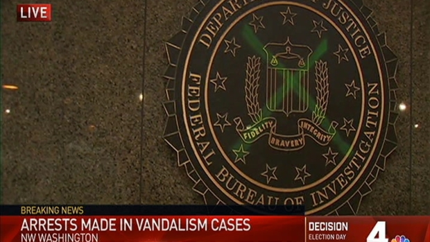 FBI Building and Trump Hotel Vandalizd in DC