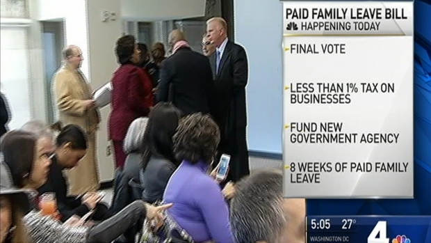 [DC] Controversial D.C. Paid Family Leave Bill Goes to Final Vote