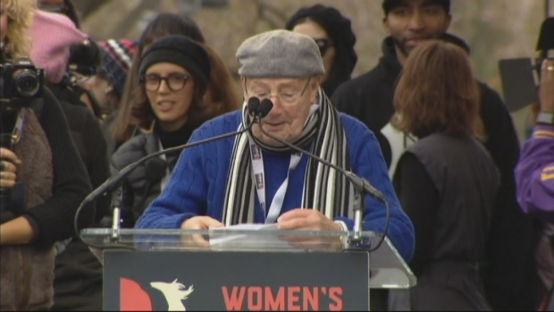 Legendary Announcer Charlie Brotman Welcomes Women's March to Washington