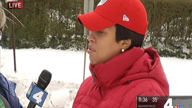 DC Mayor Visits Pat Collins Ahead of Snow Stick Challenge