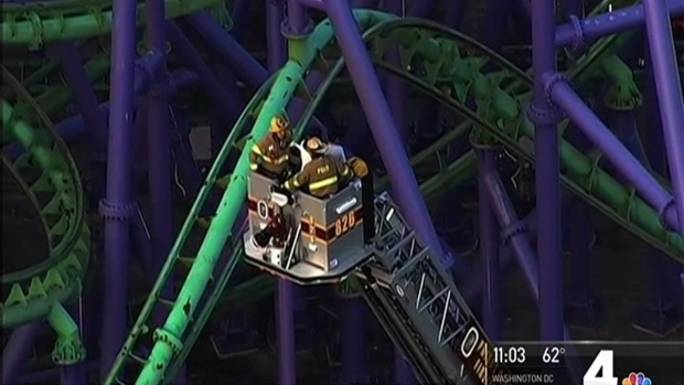 [DC] 24 People Rescued From Coaster Stalled at Six Flags