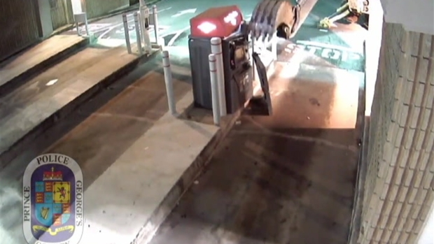 [DC] RAW VIDEO: Stolen Backhoe Used to in Attempted ATM Theft