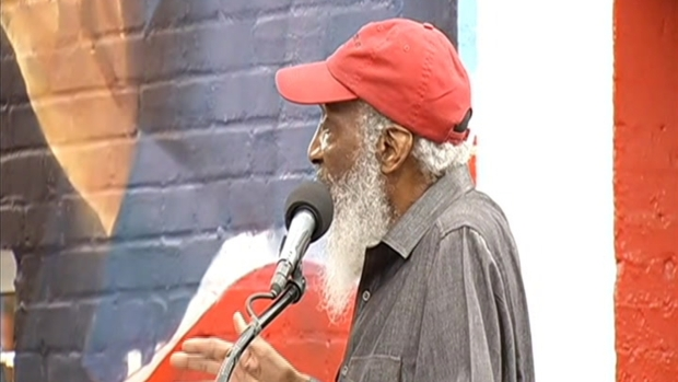 Jim Vance, Dick Gregory Speak at Ben's Chili Bowl Mural Unveiling