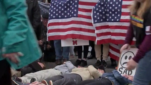 Raw Video: Teens Hold Gun Control 'Lie-In' Outside White House