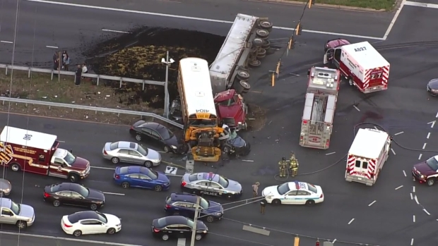 [DC] Raw Video: 1 Dead, 6 Hurt in Crash with Prince George's School Bus